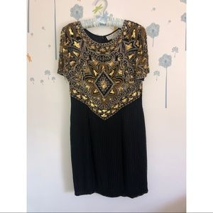 Vintage AJ Bari Sequin Petite Dress